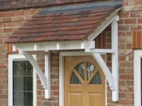 Front door canopy, traditional timber single sloping roof ...