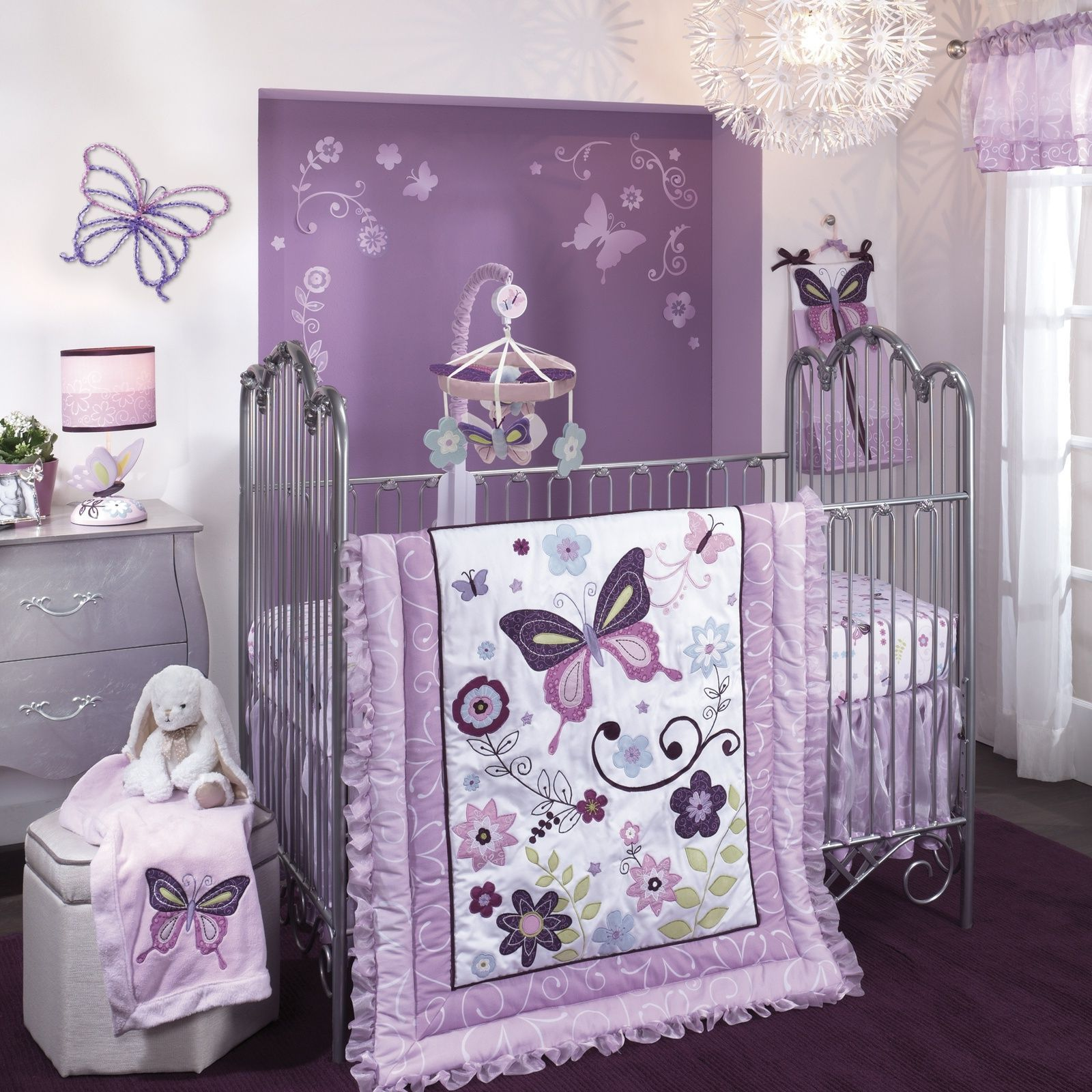 Baby Room Themes Girl Bedroom Cozy Purple Theme Girl Nursery Ideas Lambs And