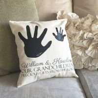 Personalized Grandparent pillow with handprints, grandma ...