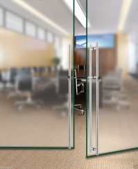 Stainless Steel Office Meeting Room Frameless Glass Door ...