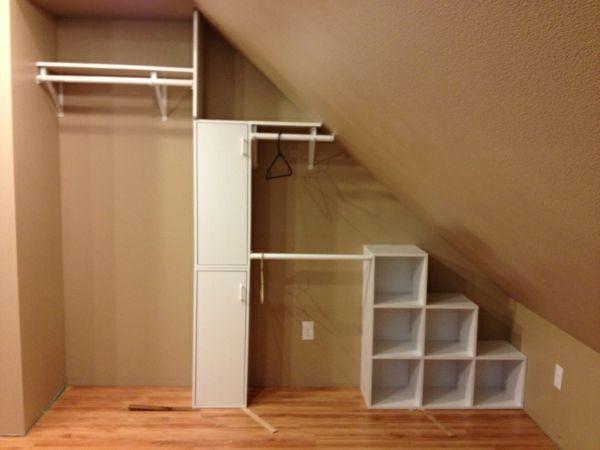 ankleidezimmer dachschräge möbeln idee Home Pinterest - einbauschrank bei dachschrage mobel ideen bilder