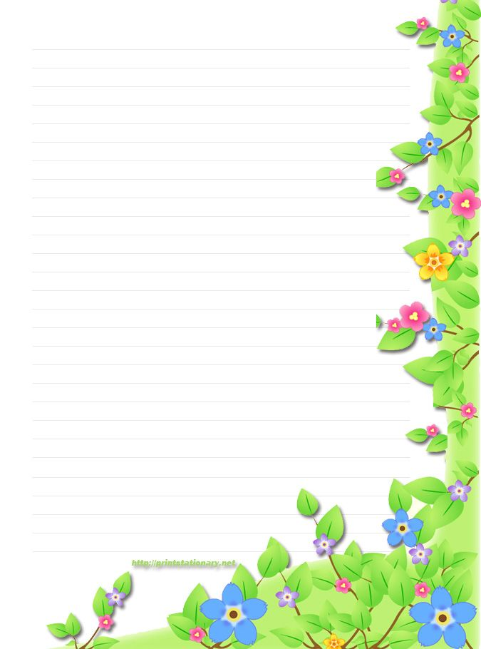 Free Border Templates Free floral stationery(stationary) - free - lined border paper