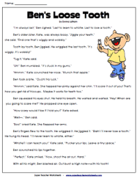Reading Comprehension Stories on SuperTeacherWorksheets ...
