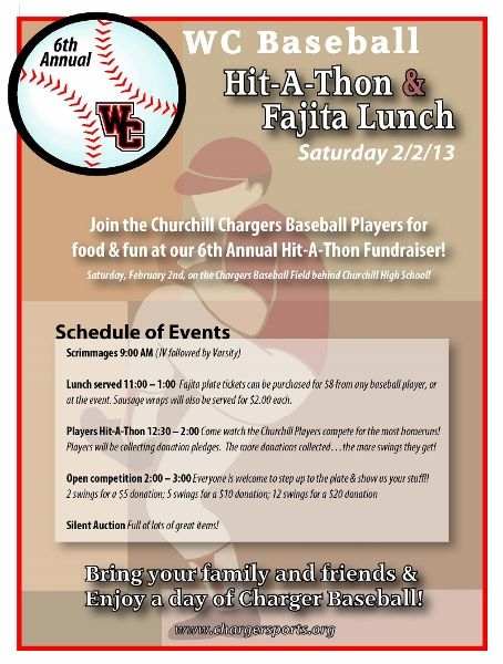 baseball fundraiser flyer template