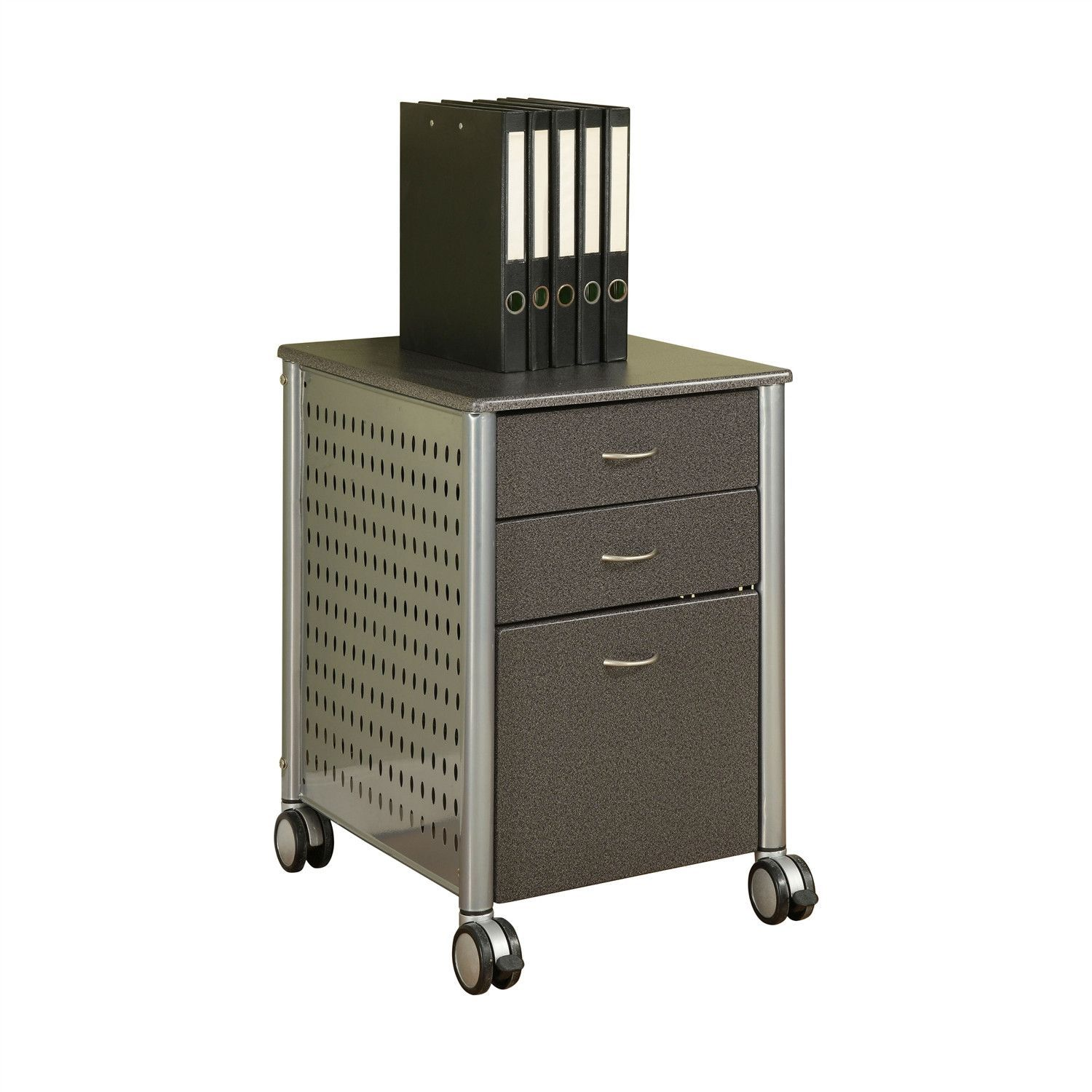 Mobile Filing Cabinet Printer Stand with 2 Office Storage