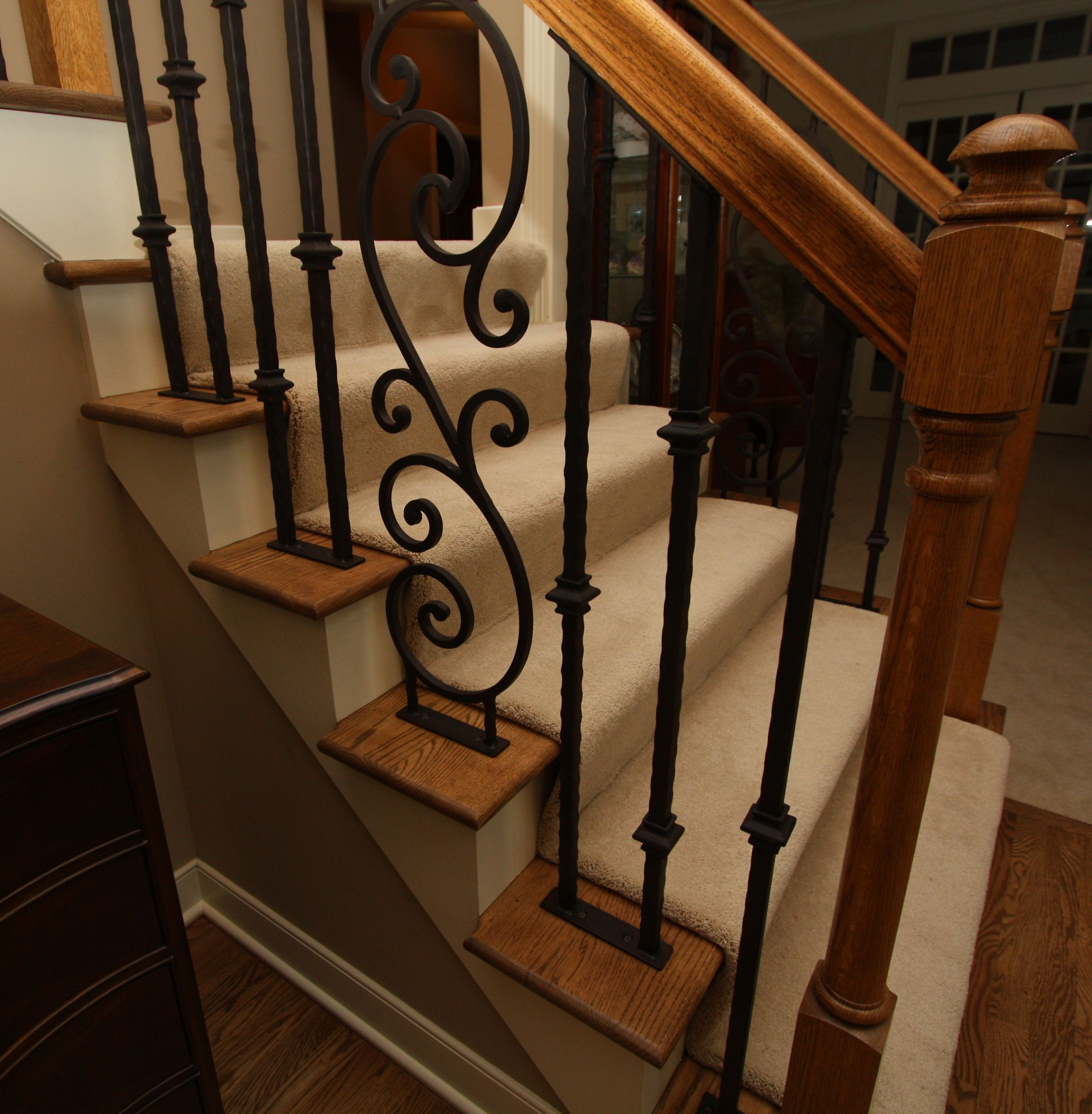 Hand Forged Iron Stair Railing Ornamental Iron