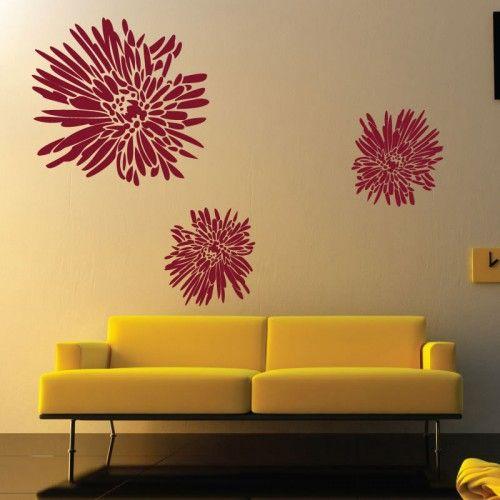 Chrysanthemum Flower Wall Stickers Faint Family Living