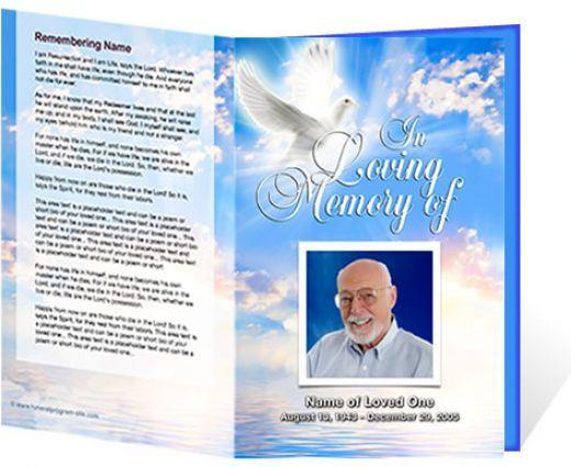 Free Funeral Program Template Microsoft Word |   Passed: Free