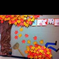 Fall hallway decorations - paper! | Thanksgiving/fall ...