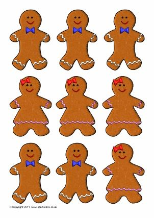 Gingerbread Man Teaching Resources; Story Sack Printables - gingerbread man template