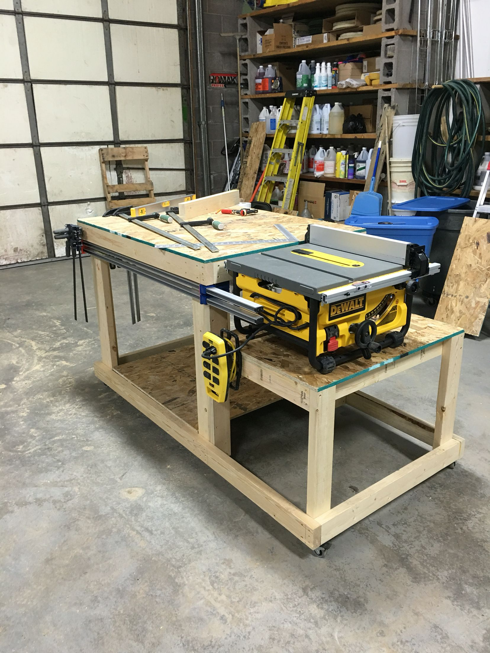 Woodworking Table Ideas Workbench Table Saw Bench Wood Shop Pinterest Bench