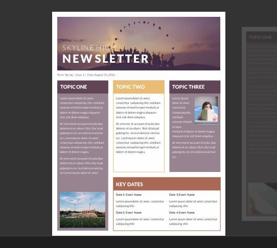 15 Free Microsoft Word Newsletter Templates for Teachers \ School - newsletter templates word free