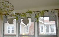 Use sun catchers as a creative window valance on a sunny ...