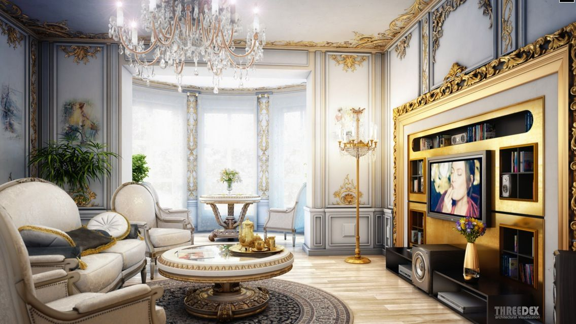 Interior Design, Royal Classic Living Room Beautiful Victorian - royal home decor