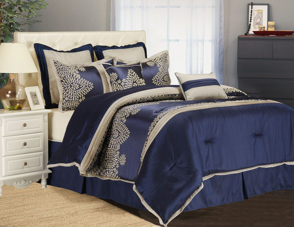 Queen Bed Set Ideas Blue Comforter Sets Queen With Nightstand Queen
