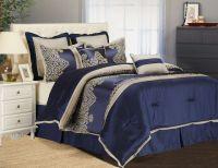 Ideas Blue Comforter Sets Queen With Nightstand | Queen ...