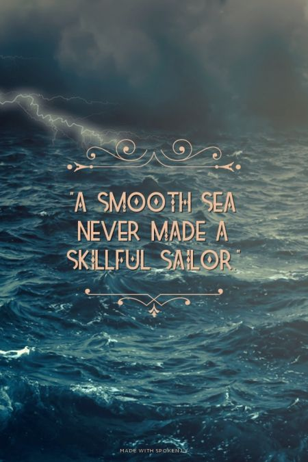 Pirate Wallpaper Quote Quot A Smooth Sea Never Made A Skillful Sailor Quot Brittany