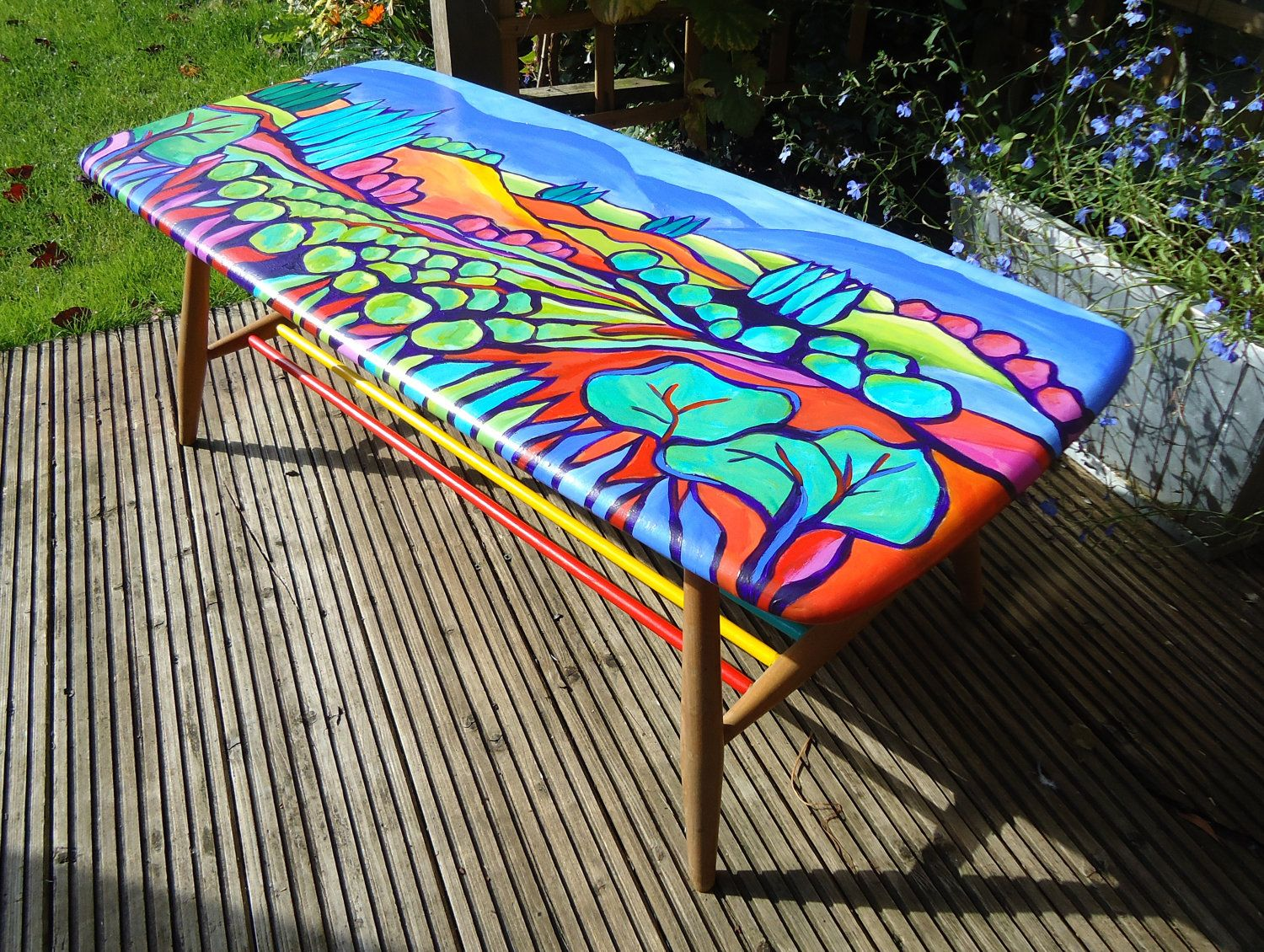 Couchtisch Bemalen Hand Painted Coffee Table Via The Lady Loves To Paint Via