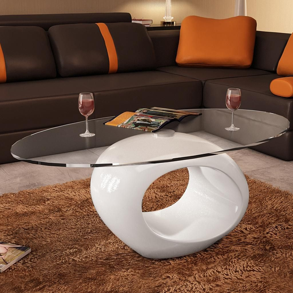 Table Basse Design Blanche Table Basse Blanche Laquée Ovale Design Verre Home Stylings And