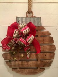 Rustic wood bell, Christmas wall decor, rustic Christmas ...