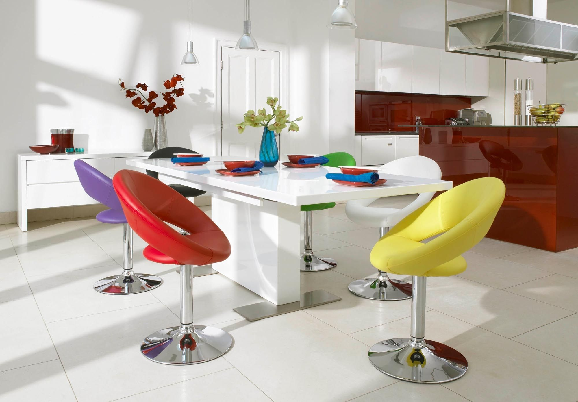 modern kitchen table chairs Plump swivel chair Tank Dining Tables Chairs Dining Room Furniture Furniture Village