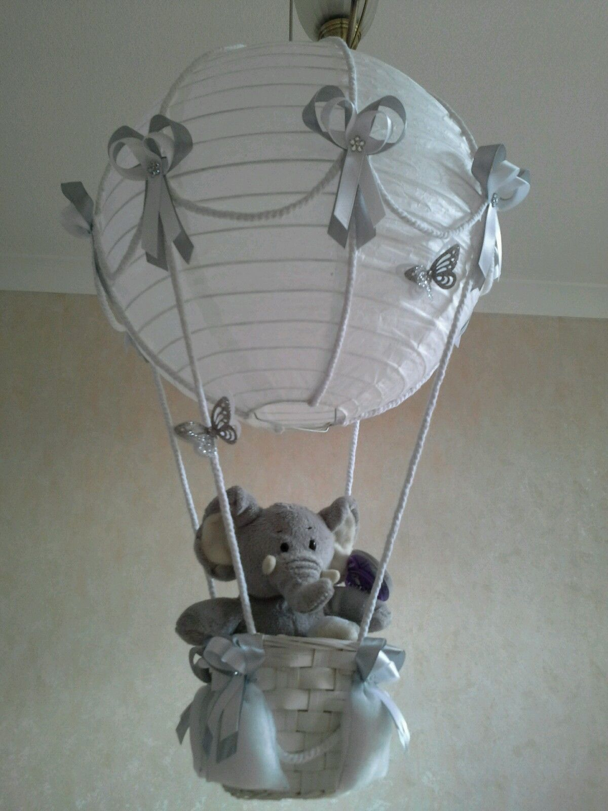 Light Bulb For Baby Room Cute Little Elephant In Hot Air Balloon Light Lamp Shade