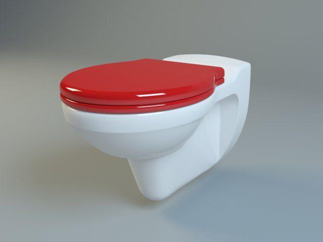 3D Model Keramag Kind washdown WC c4d, obj, 3ds, fbx 3D - badezimmer 3d modelle