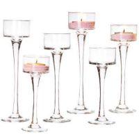 tall glass candlestick holders | Wow! Tall Glass Tealight ...