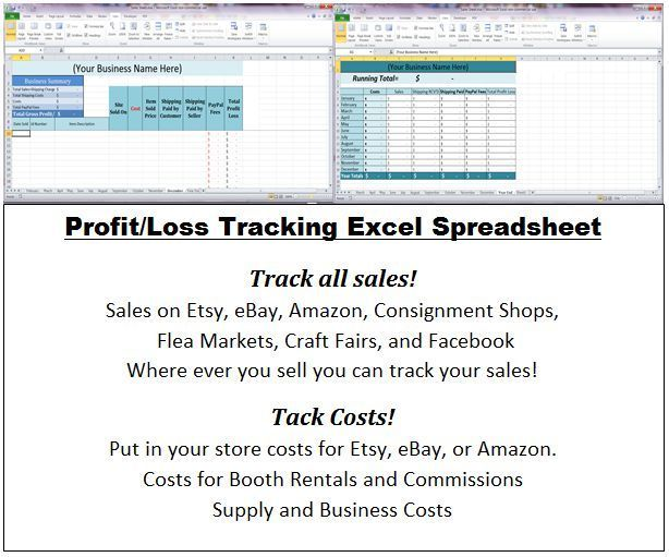 Excel Business Profit and Loss Statement Spreadsheets Cash Flow - business profit and loss
