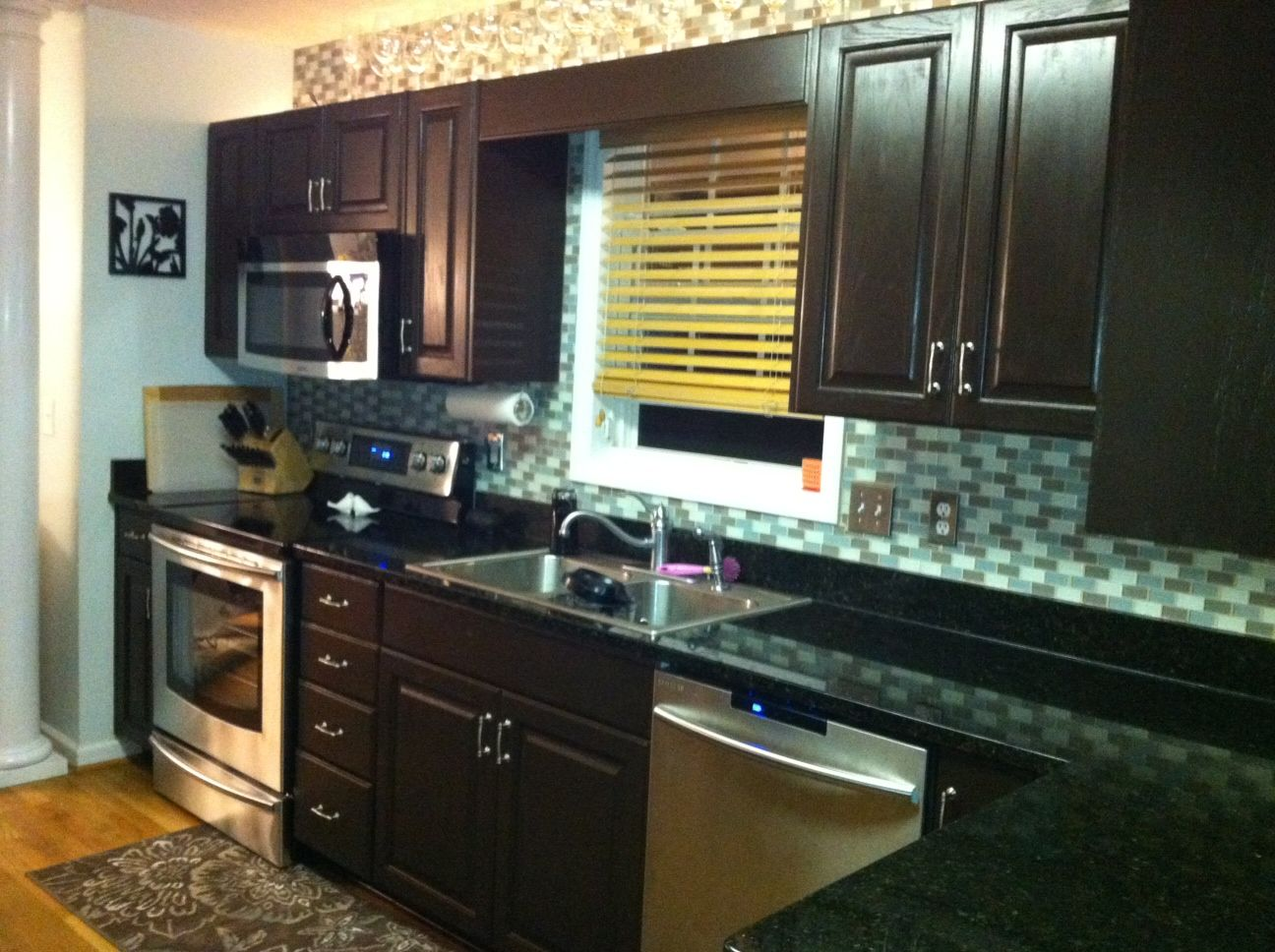 Dark Countertops With Dark Cabinets Dark Brown Cabinets With Black Countertops Love