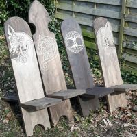 Reenactment chairs ( viking chair ) | Norse Symbols and ...
