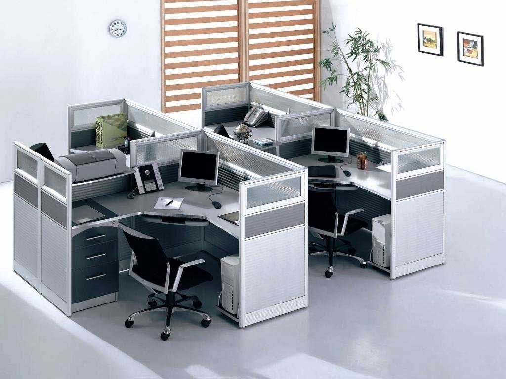 Compact Modern Desk Modern Compact Glass Office Cubicle Workstations 99home