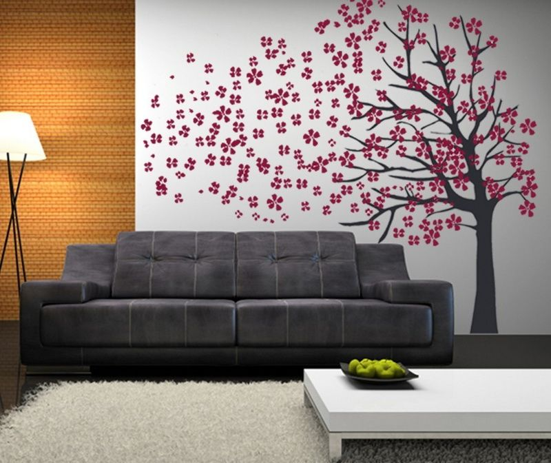 tree on walls why not, its my house??!?! House to a Home - large wall decals for living room