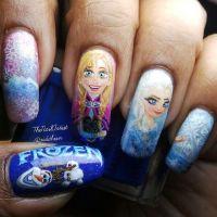 Disney frozen Elsa, Anne nails art design for 2014 ...