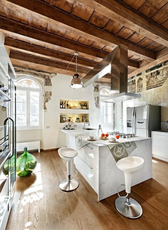 Ideen für Gestaltung der Wohnküche-Arbeitsplatten aus Marmor - wohnkuche ideen