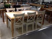 Table IKEA Nornas bois massif pin rallonge 6 8 10 ...