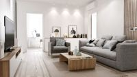 Home & Apartment. Cool Grey Sofa Design With Modern Wood ...