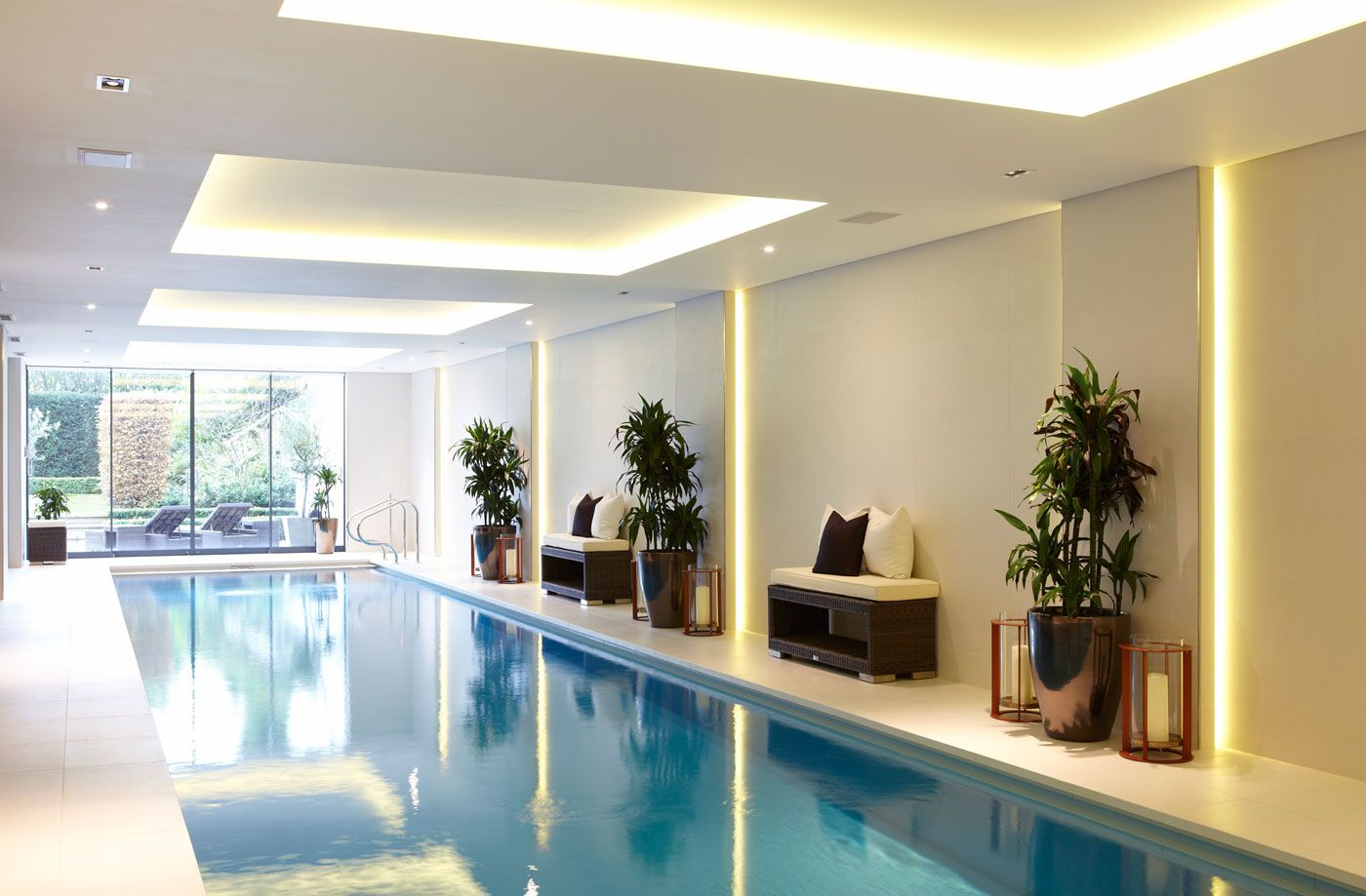 Decoraciones De Piscinas Indoor Lap Pool By Concept Bespoke Interiors Albercas