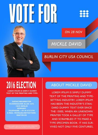 free political campaign flyer templates 11 Free Political - campaign flyer template