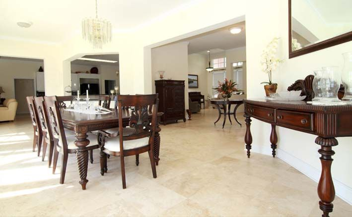 Beige\/cream #tile floor for dining room or living room Seville by - tile living room floors