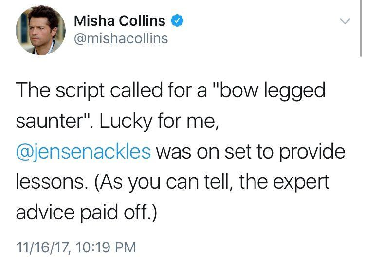 misha collins resume