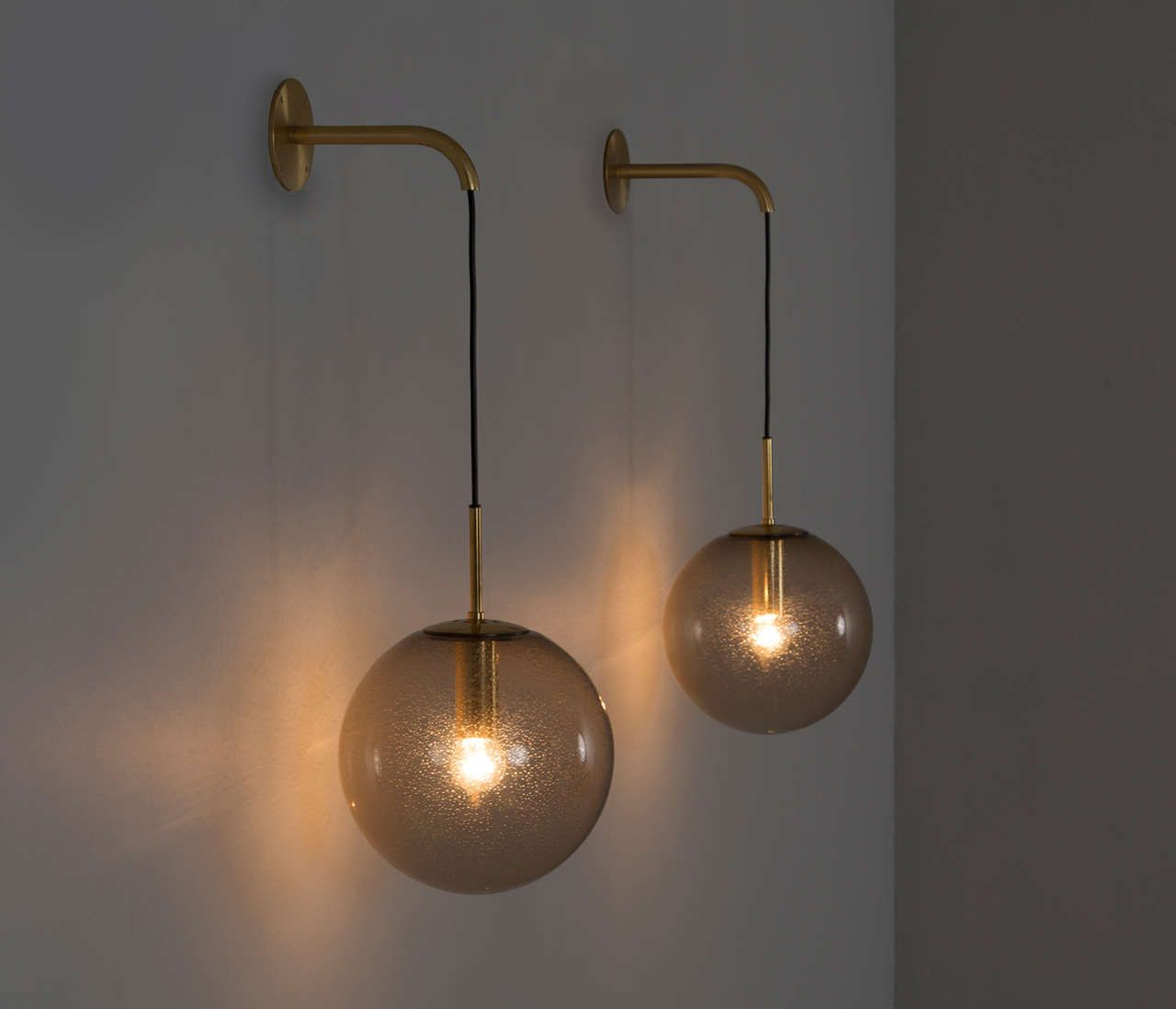 Wall Light Large Set Of 24 1960s Wall Light With Brass Details