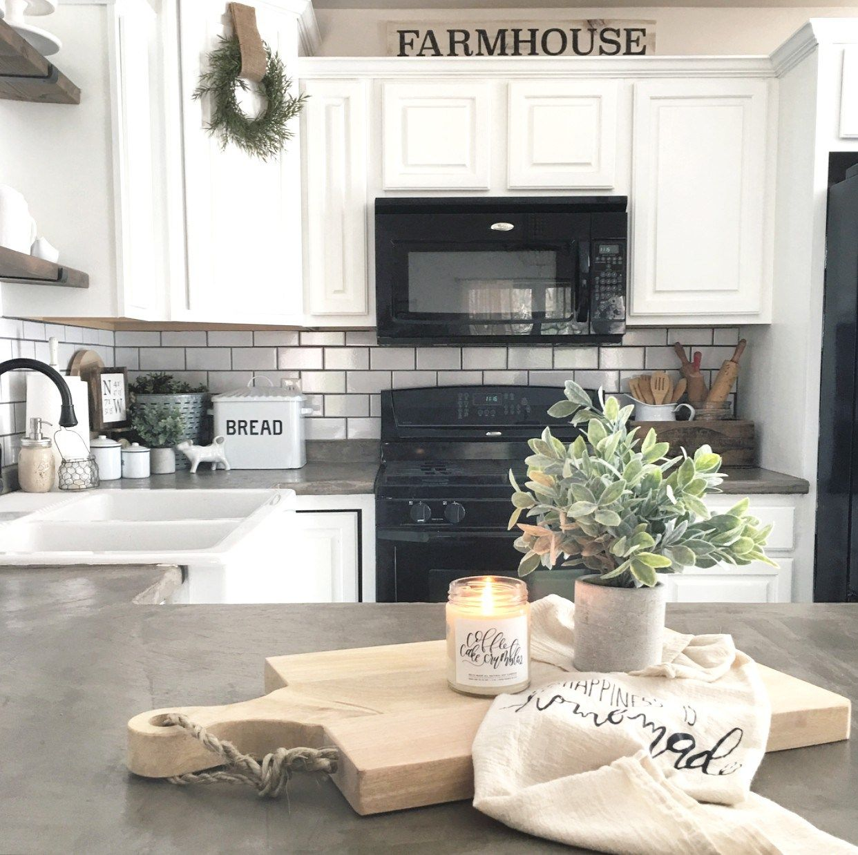 Kitchen Decorations For Countertops Farmhouse Kitchen The Little White Farmhouse Blog