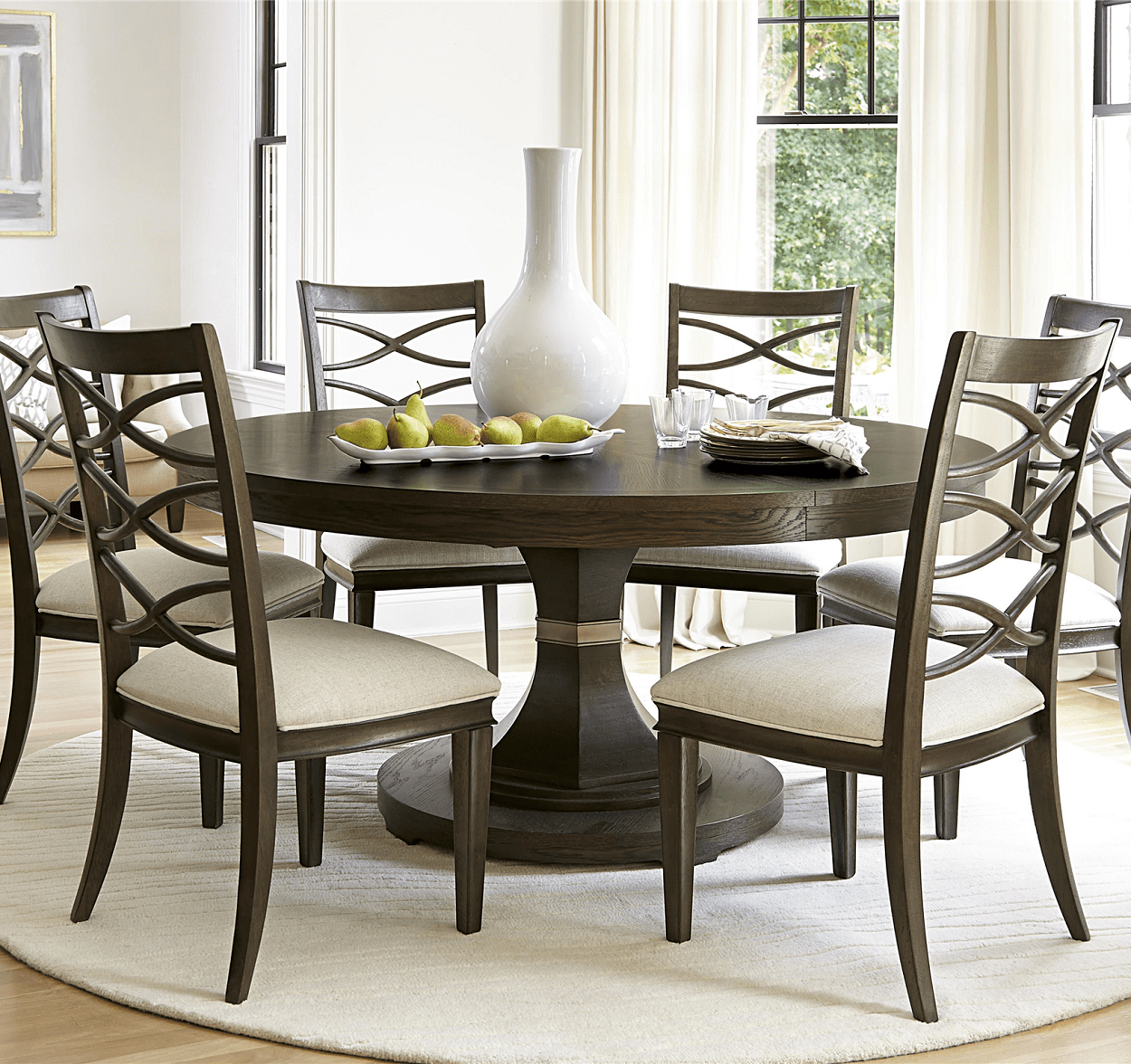 Expandable White Dining Table California Rustic Oak Expandable Round Dining Table