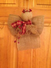 Burlap Angels Primitive See more at http://blog.blackboxs ...