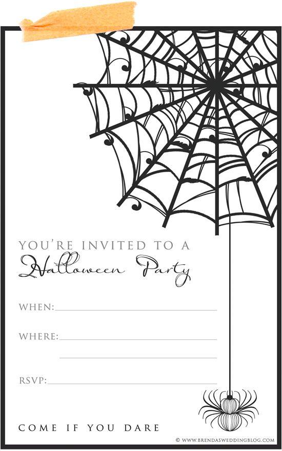 9 Fun \ Stylish Ideas for Halloween Weddings + a Printable - halloween invitation template