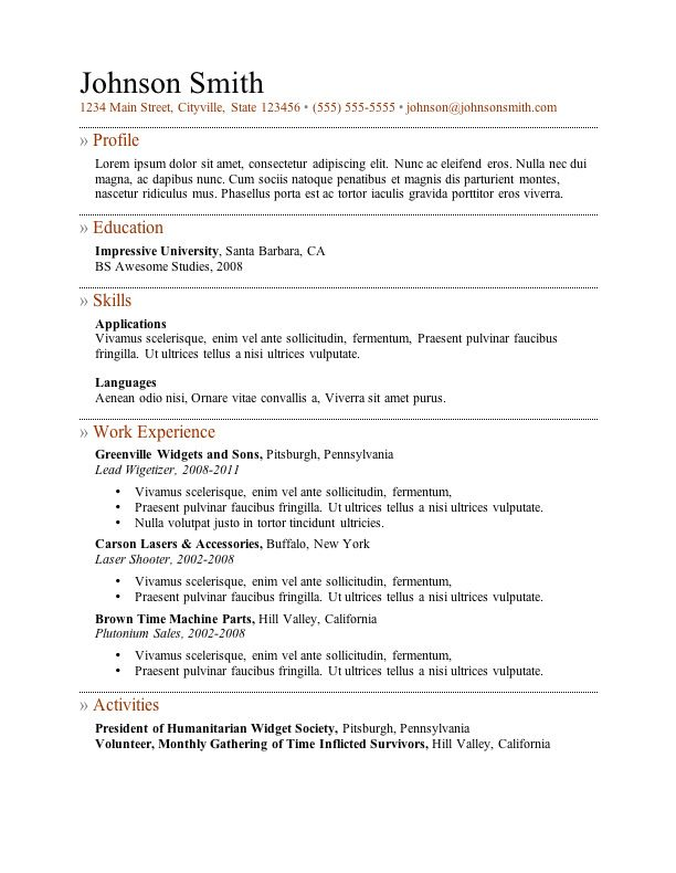 resume ms word format 11 best job search images on pinterest job
