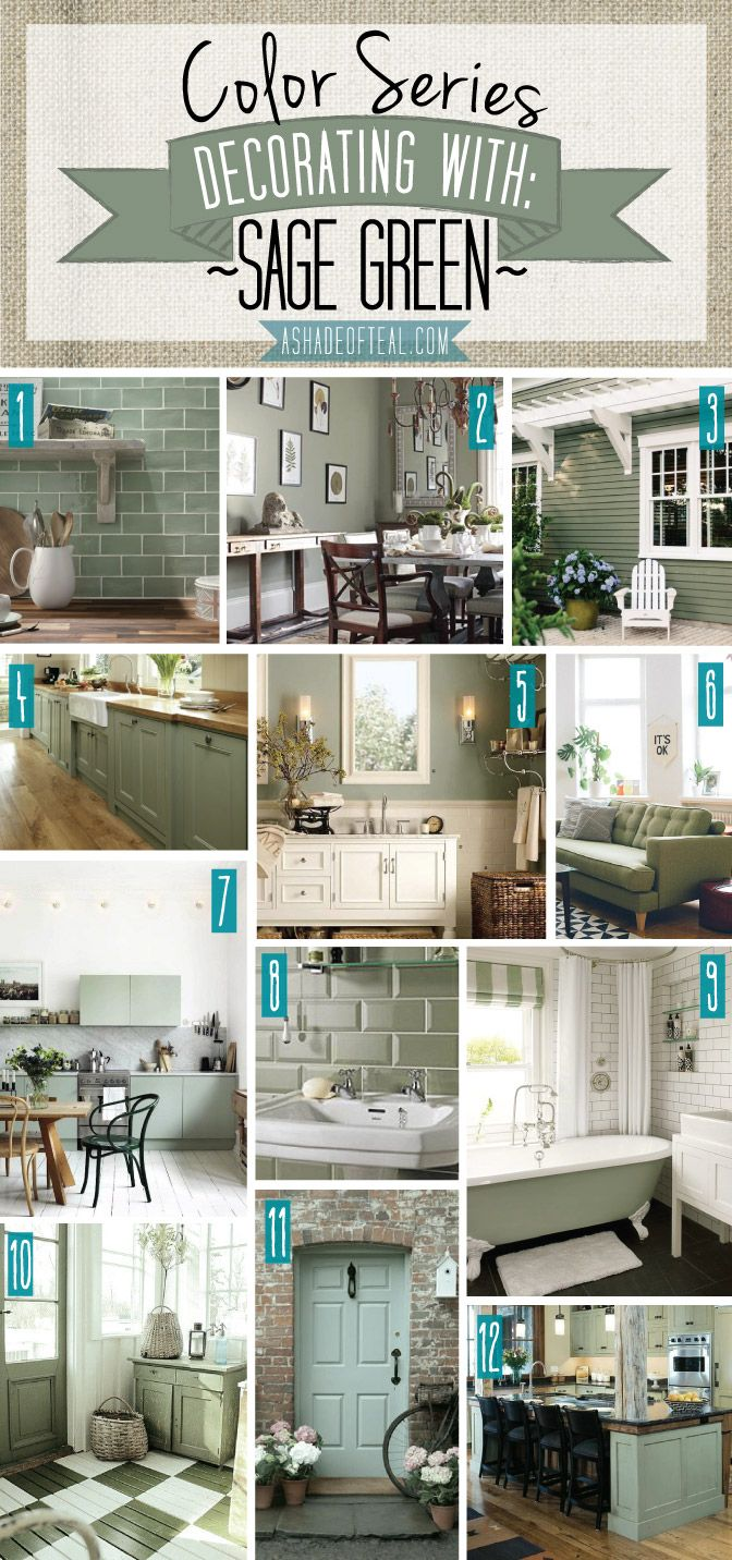 Color Series; Decorating with Sage Green