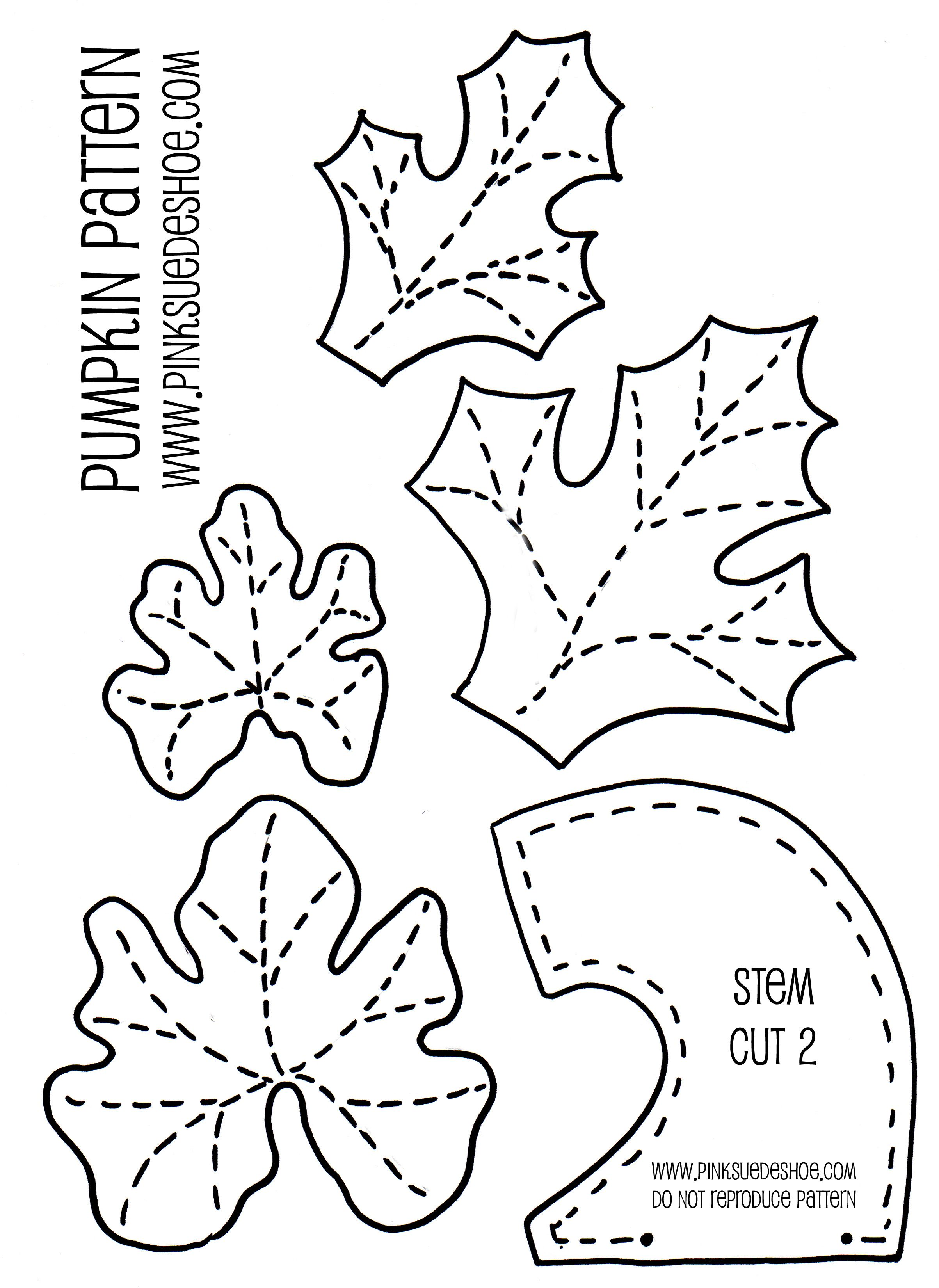 Leaves and stems jpg ooooo to go with the pumpkin pattern i have