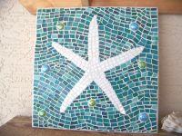 Mosaic Starfish Wall Art - Starfish Decor - Wall Hanging ...